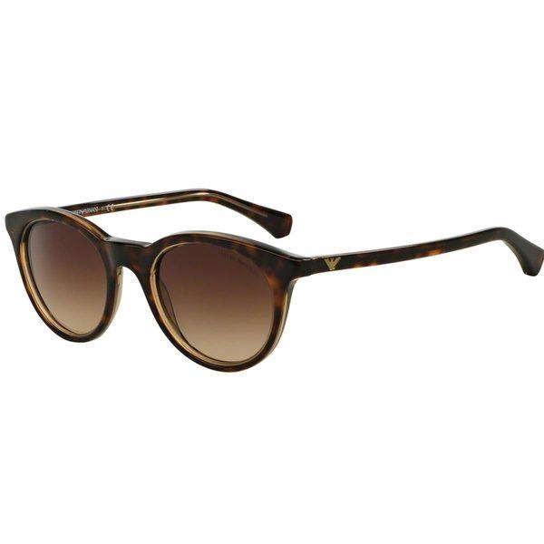 Emporio Armani Women's EA4061 Tortoise Plastic Round Sunglasses