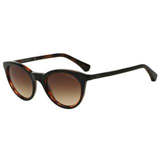 Emporio Armani Women's EA4061 Black Plastic Round Sunglasses
