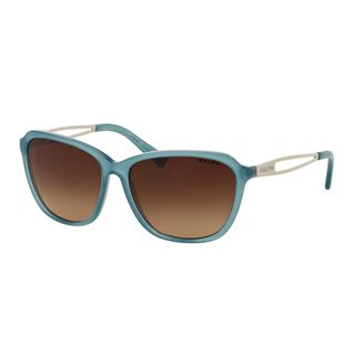 Ralph by Ralph Lauren Women's RA5199 Blue Plastic Square Sunglasses