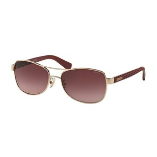 Coach Women's HC7054 92248H Gold Metal Pilot Sunglasses