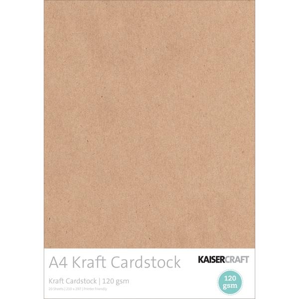 Kaisercraft 120gsm Cardstock A4 20/Pkg-Kraft