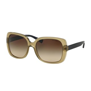 Ralph by Ralph Lauren Women's RA5198 Olive Plastic Square Sunglasses