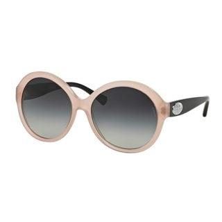 Coach Women's HC8149 Pink Plastic Round Sunglasses