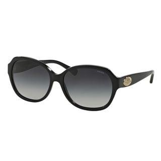 Coach Women's HC8150 Black Plastic Square Sunglasses