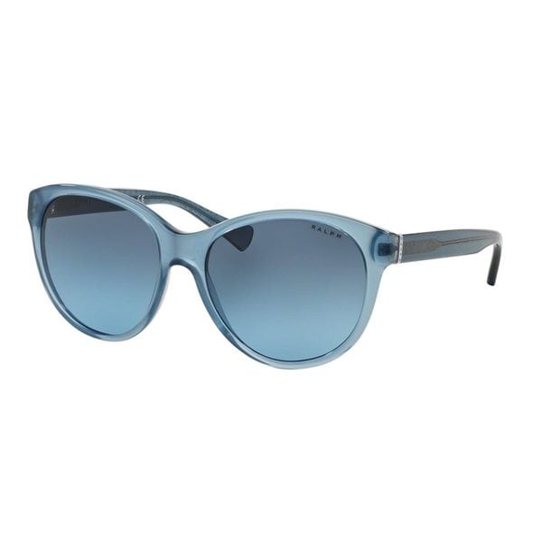Ralph by Ralph Lauren Women's RA5197 Blue Plastic Round Sunglasses