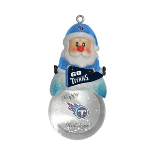Tennessee Titans Santa Snow Globe Ornament