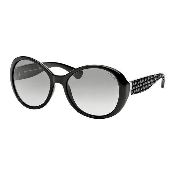 Ralph by Ralph Lauren Women's RA5175 Black Plastic Round Sunglasses