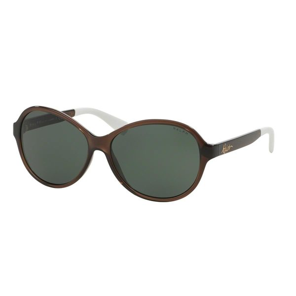 Ralph by Ralph Lauren Women's RA5192 Brown Plastic Oval Sunglasses