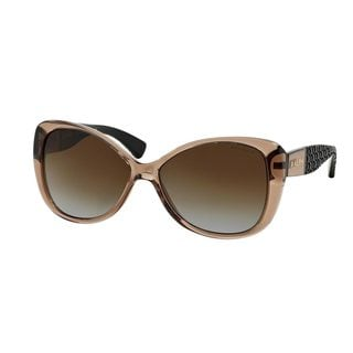 Ralph by Ralph Lauren Women's RA5180 Brown Plastic Butterfly Polarized Sunglasses