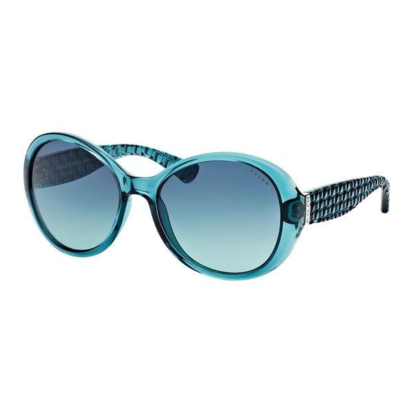 Ralph by Ralph Lauren Women's RA5175 Turquoise Plastic Round Sunglasses