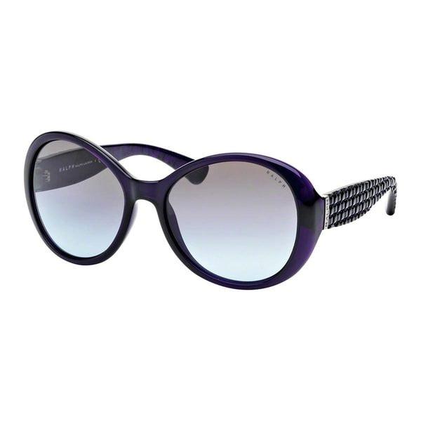 Ralph by Ralph Lauren Women's RA5175 Plum Plastic Round Sunglasses