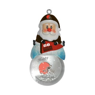 Cleveland Browns Santa Snow Globe Ornament