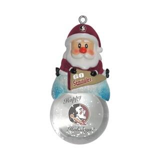 Florida State Seminoles Santa Snow Globe Ornament