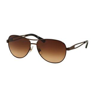 Ralph by Ralph Lauren Women's RA4115 Brown Metal Pilot Sunglasses