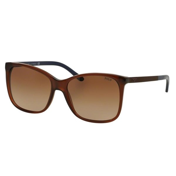 Polo by Ralph Lauren Women's PH4094 Brown Plastic Butterfly Sunglasses
