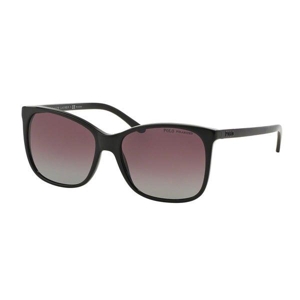 Polo by Ralph Lauren Women's PH4094 Black Plastic Butterfly Polarized Sunglasses
