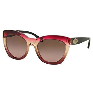 Coach Women's HC8151 Black Plastic Cat Eye Sunglasses