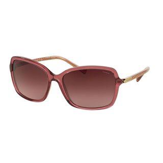 Coach Women's HC8152 Black Plastic Square Sunglasses