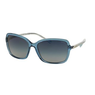 Coach Women's HC8152 Blue Plastic Square Sunglasses