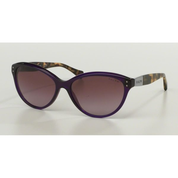 Ralph by Ralph Lauren Women's RA5168 Purple Plastic Cat Eye Sunglasses