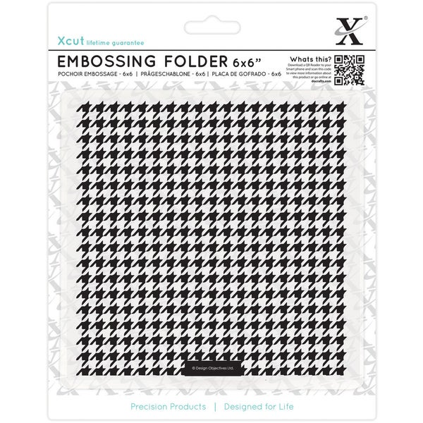 "Xcut Universal 6""X6"" Embossing Folder-Dogtooth Pattern"