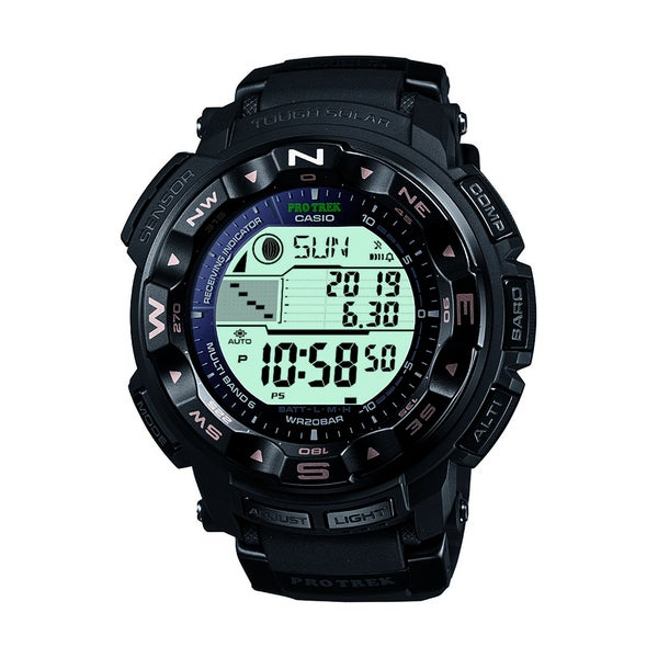 Casio Men's PRW-2500R-1CR Pro-Trek Tough Solar Digital Sport Watch