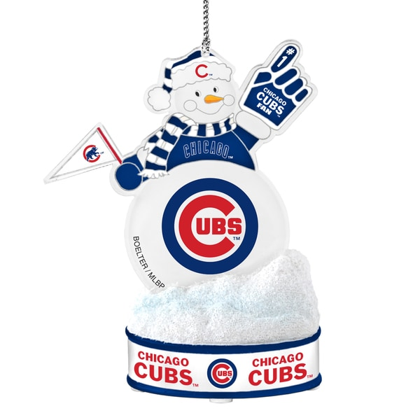 Chicago Cubs LED Snowman Ornament 16761390