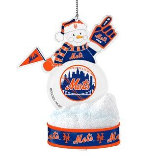 New York Mets LED Snowman Ornament