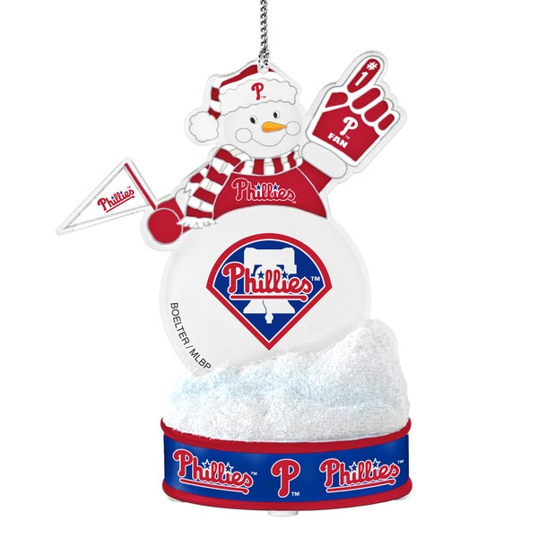 Philadelphia Phillies LED Snowman Ornament 16761392