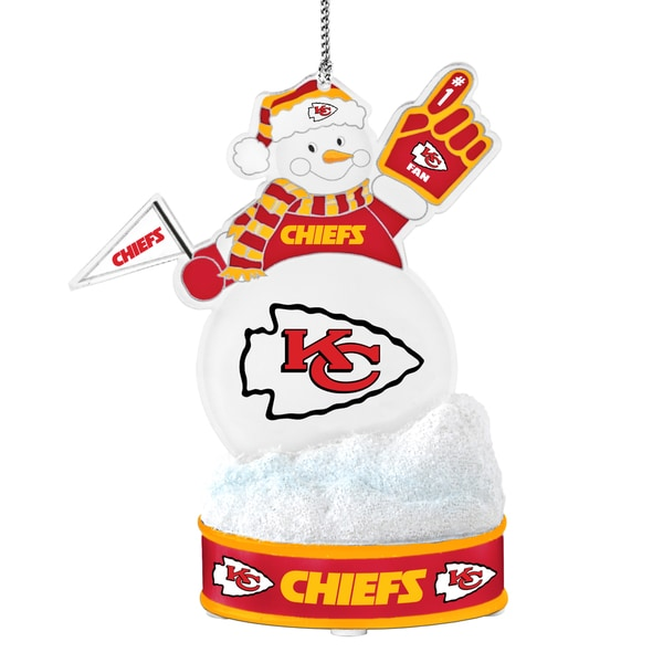 Kansas City Chiefs LED Snowman Ornament