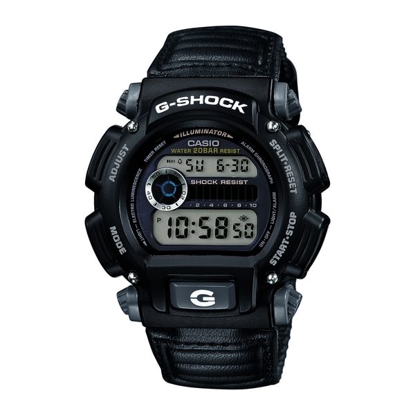 Casio Men's DW-9052V-1CR G-Shock Digital Quartz Canvas Strap Grey Watch