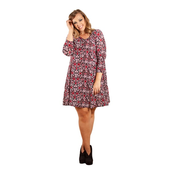 Sealed with a Kiss Women's Plus Size 'Isabella' Swing Dress