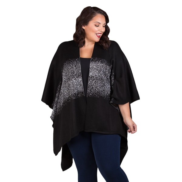 Sealed with a Kiss Women's Plus Size 'Lurex' Poncho