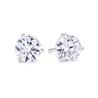 Suzy Levian 3-Prong Diamond Martini Stud Earrings (G-H, SI2-SI3)