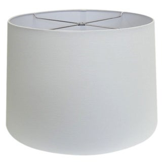 Round White-wash Hardback Shade - Lg