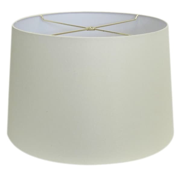 Round Cream Hardback Drum Shade Md