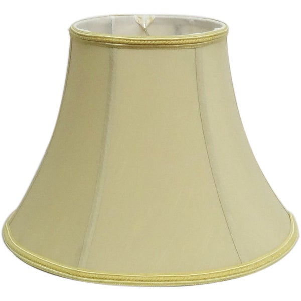 Rich Cream Silk Bell Shade w/ trims