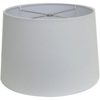 Round White-wash Hardback Drum Shade - Sm