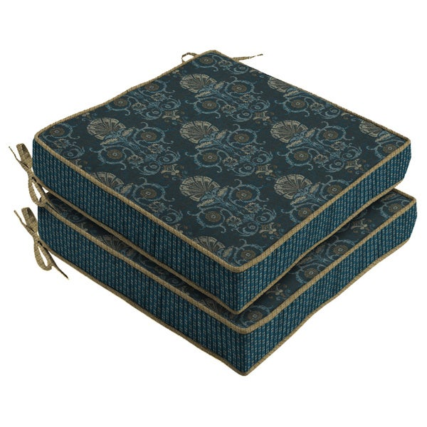 Bombay Outdoors Anatolia Blue Reversible Seat Cushion (2-Pack)