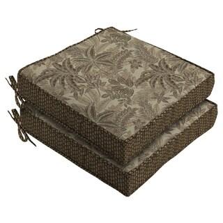 Bombay® Outdoors Palmetto Mocha Reversible Seat Cushion (2-Pack)