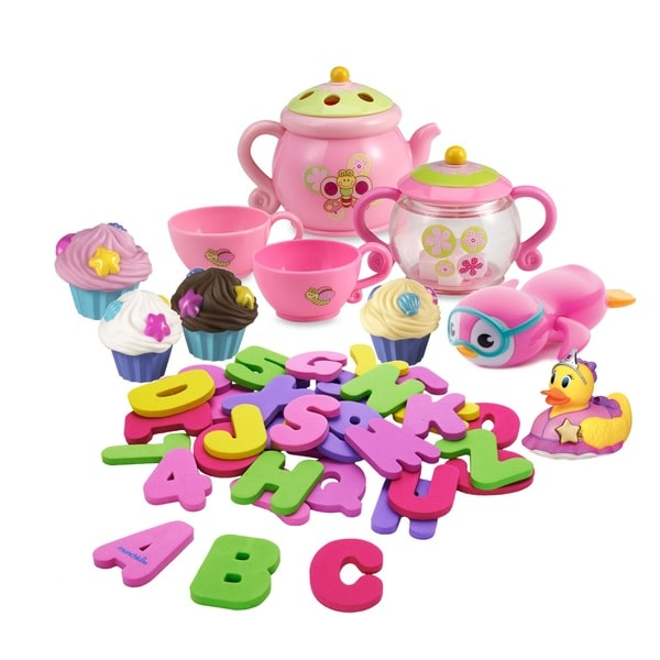 Summer Infant Tub Time Pretty In Pink 46-Piece Bath Toy Set