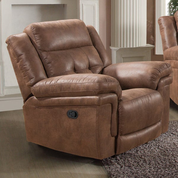 Kingston Tobacco-brown Glider Recliner
