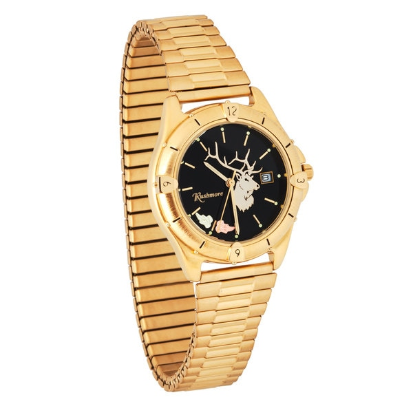 Mens Black Hills Gold Elk Watch