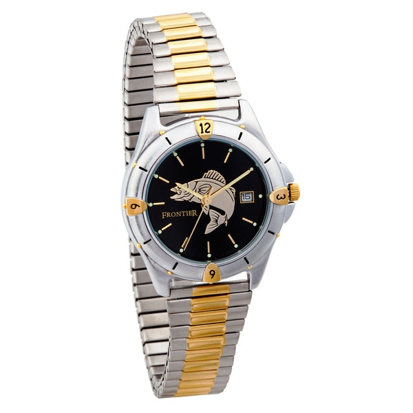 Mens Two-Tone Fish Watch