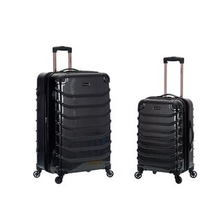 Rockland Light Weight 2-piece Fiber Hardside Spinner Upright Luggage Set