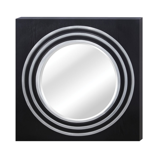 Square Frame Round Mirror