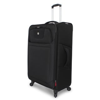SwissGear Deluxe Black 29-inch Expandable Spinner Upright Suitcase