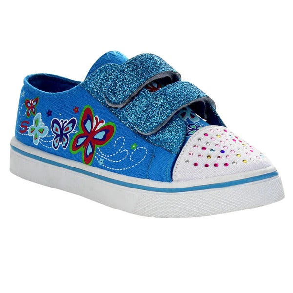 Beston Ga98 Girl Glitter Hook-and-loop Strap Flat