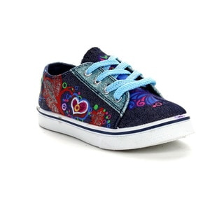 Beston Gb02 Glitter Lace Up Flat Sneakers