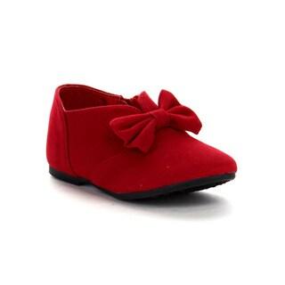Beston Gb05 Girls Bow Slip On Ballet Shoes